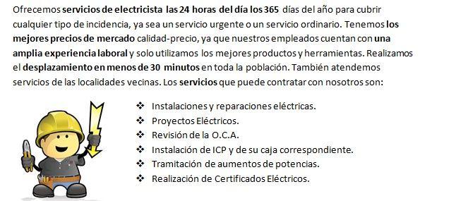 Electricistas en Beniparrell presupuestos gratis